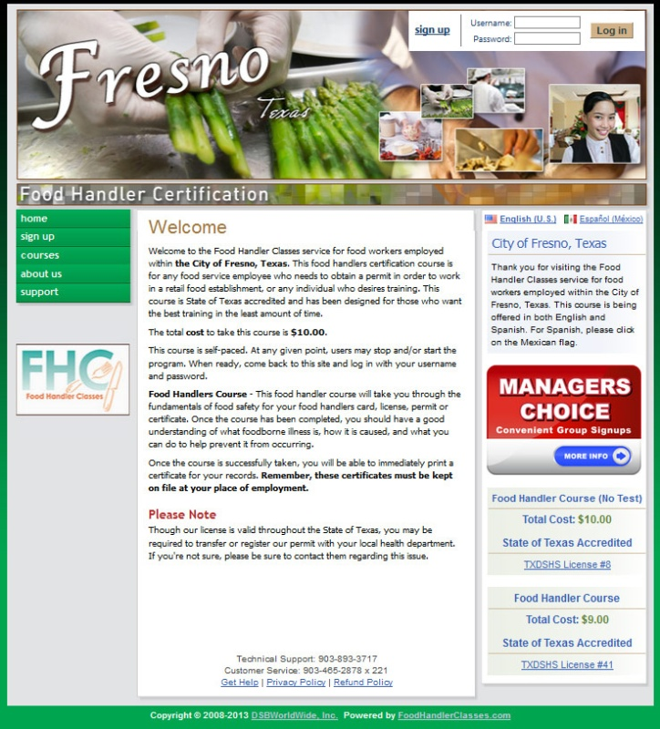 Food Handler Classes Fhc Launches New Websites Where Food Handler