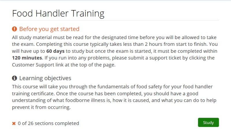 food handler classes: how the course works