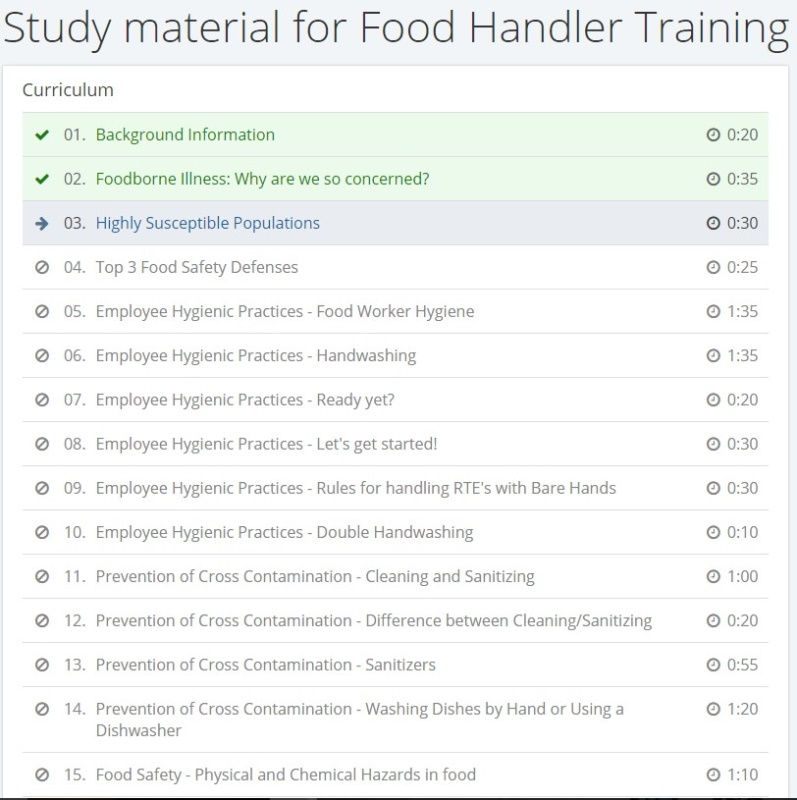 Food Handler Classes Giving Pass Key And Codes To Employees